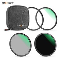 KF Concept 3pcs Ultra Clear Magnetic Filtri Impermeabile Resistente ai graffi con anello adattatore Sacchetto di stoccaggio per la fotocamera DSLR LUCCIA LUCING STU