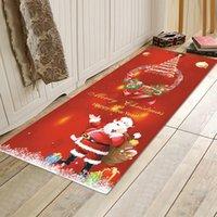 Christmas Doormat Flannel Floor Carpet For Bathroom Rugs Red Set Mat Door Mats Non-slip Absorbent Bath
