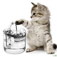 Katze Wasserbrunnen, Hund Wasserspender, 1.8l Super leise automatische Haustier Trinkbrunnen mit Wasserhahn-Kits