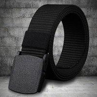 Belts Men Belt 2021 Fashion Unisex Army Tactical Waist Jeans Male Casual Luxury Nylon Webbing Waistband Ceinture Femme
