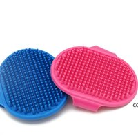 Dog Bath Brush Comb Silicone Pet SPA Shampoo Massage Brush Shower Hair Removal Comb For Pet Cleaning Grooming Tool DHE10363