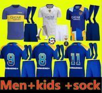 Boca Juniors Fussball Jersey 2021 2022 Carlitos Maradona Tevez de Rossi 21 22 Sportfußball Erwachsener und Kinder Hemd Uniformen Home Dritter 3.