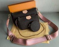 En Yeni Kadın Favori Hakiki Deri Moda Çanta Çok Pochette Accessoires Çantalar Çiçek Mini Pochette 3 adet Crossbody Çanta Omuz Çantaları 57633