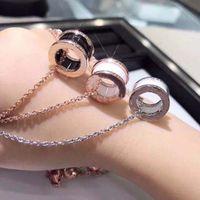 Творческая мода пару ожерелье мужчины и женщины роскошные керамические цилиндрические кулонные украшения с изысканной упаковочной подарочной коробкой