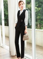 Women's Suits & Blazers Formal Two Piece Sets With Pants And Tops Women Vest Coat Waistcoat For Business Pantsuits OL Styles