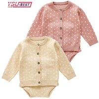 Giyim Setleri Sonbahar Bebek Kız Giysileri Set Örme Romper Bebek Doğan Çocuk Hırka Erkek Kazak Pamuk Tulum Suit