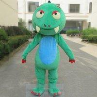 Costume de mascotte de dinosaure vert Halloween personnaliser le dessin animé peluche anime thème personnage Taille adulte Taille de Noël Carnaval Fantaisie