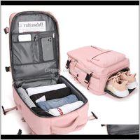 Housekeeping Organization Home & Garden Drop Delivery 2021 Waterproof Travel Backpack Men Women Multifunction Laptop Backpacks Male Female Ou