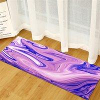 Simulación casual que fluye pintado alfombra de alfombra de diseño de piedra estera de puerta de impresión sin deslizamiento alfombras rectangulares