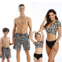 Family Matching Outfit Swimwear Women Swimsuit Dad Mother Daughter Kid Son Girl Bathing Swim Suit Bikini Summer Beach Dress Women's