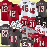 "12 Tom Brady Jersey 87 Rob Gronkowski 45 Devin White Tampa ""Bucht"" Buccaneers ""Mike Evans Chris Godwin Fußballtrikots Kyle Trask Antonio 81 Braun Pierre-Paul 13"