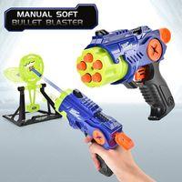 Kids Toy Gun Shooting Plastic Pistol Outdoor Fun Toy Manual Soft Bullet Blaster For Boys Children Sport Gifts 04