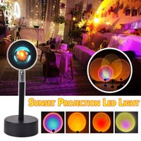 Sunset Projection LED Light Rainbow Atmosphere Lamp Creative Background Wall Decoration Projector Fill For Living Room Interior&External Lig