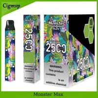 Monstro Max 2500 Puff Eletrônico Cigarro Caneta Descartável com Design de Moda e Big Capacidade POD Kit 10 Cores Vs Bar Plus