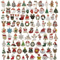 96pcs Santa Claus Snowman Tree Elk Charms for Necklace Bracelet Christmas Diy Jewelry Making Accessories Gift Party