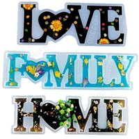 Love Home Family Silicone Mold Love Resin Mold Love Sign Word Mold Epoxy Resin Molds for DIY Table Decoration Art Crafts DAN285