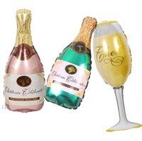 Büyük Helyum Balonlar Düğün Doğum Günü Partisi Dekorasyon Şampanya Goblet Viski Bira Şekilli Balon Yetişkin Çocuklar Olay Malzemeleri HHB7631