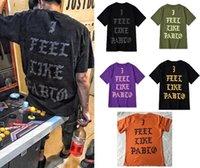 Европейские и американские модные вершины я чувствую себя как Pablo с коротким рукавом Newyork 21 город Ограниченная футболка для мужчин женщин пары повседневные тройники 100% чистый хлопок