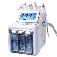 6 em 1 Máquina Hydrafacial Hydro dermoabrasão Facial Descascamento Ultrasonic Scrubber Spray de Oxigênio Cuidados com a pele Microdermoabrasão