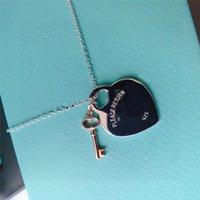 Collar colgante de lujo diseñador collar regalo clásico corazón para mujer moda moda oro plata lujoso diseñador