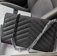 Frau Tasche Original Box Echtes Leder Kaviar Mode Clutch Lady Umhängetaschen Rindsleder Handtasche Presbyopische Kartenhalter Geldbörse