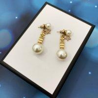 Charm Pearl Studs Pendientes con la letra J Estrella corazón para las mujeres Party Amantes de la boda Regalo Joyería de compromiso de la joyería