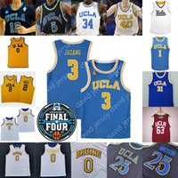 2021 Finale vier 4 UCLA Basketball Jersey NCAA College Johnny Juzang Westbrook Ball Smith Urlaub Love Love Powell Abdul-Jabbar Jalen Hill Collison Davis Johnson