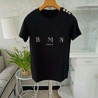 Moda Mens Designer T Shirt de Alta Qualidade Letra das Mulheres Imprimir Manga Curta Redondo Pescoço Algodão Tees Polo Tamanho S-2XL