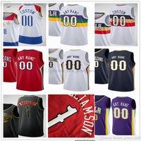 Özel Baskılı Basketbol Formaları Zion Lonzo Williamson Topu Josh Eric Hart Bledsoe Steven Brandon Adams Ingram Jaxson Willy Hayes Hernangomez Jersey