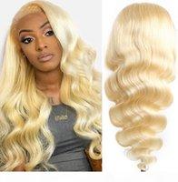 Honey Blonde Dentelle Perruques Pour Femmes Mode Ombre Perruques blonde Pour Femmes Brown Revêtements Perruques enracinées Best Human Cheveux Human Front Dentelle Perruque naturelle
