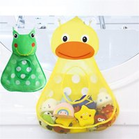 Storage Bags Baby Shower Bath Toys Little Duck Frog Kids Toy Mesh With Strong Suction Cups Bag Net Bathroom Organizer
