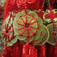 Accueil Décor Chine chanceux Feng Shui Miroir Miroir Pendentif Charm Symbole Bon attirer la richesse Luck Coins Décorations d'intérieur