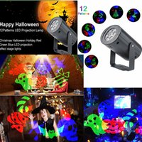 LED Effect Stage Light Projector Lights RGB Atmosphere Lamp for Halloween Christmas Holiday Party Home KTV DJ Club Decoration