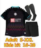 Yetişkin Çocuk Kiti 2021 2022 S-XXL 20 21 Bristol şehir Uzakta Futbol Formaları Futbol Gömlek Silva Ameobi Erkekler