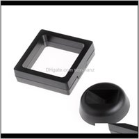 & Drop Delivery 2021 Black White Jewelry Packaging Suspended Floating Display Case Jewellery Coins Gems Artefacts Stand Holder Box Nfcfl