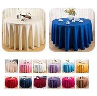 라운드 / 직사각형 식탁보 테이블 커버 100 % 폴리 에스터 빨 수 테이블 천으로 홈 저녁 파티 결혼식 연회 장식