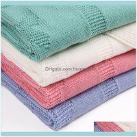 Textiles Home & Gardensummer Infant Baby Blanket For Born Soft Toddler Kid Swaddling Wrap Bedding Blankets Knitted Children Stroller Linens