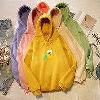 Streewear Mens Hoodies Women Sweatshirts For Teen Girls Winter Thick Warm 90s Top Harajuku Lemon Frog Jacket Hooded Women's &