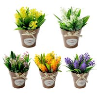 Hybrid Fake Flower Grass With Plastic Vase Bonsai Artificial Flowers For Wedding Party Living Room Garden Farmhouse Decoration Decorative &