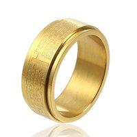 Brincos de desenhador anéis de noivado, pulseiras e colares de ouro são os favoritos femininos casal anéis rochtratable cross oração bíblica titânio homens de aço inoxidável
