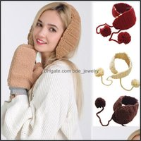 Beanie Skl Hats Caps Hats, Scarves & Gloves Fashion Aessorieswomen Knitted Earmuffs Solid Color Warmer Winter Hat Bonnet Gorros Mujer Invier