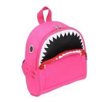 Mochila infantil crianças saco personalizado tubarão crianças desenhos animados nylon schoolbag para estudantes da escola primária menino mini sacos para meninas 4Color g80ptd0