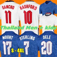 2021 Mount Soccer Jerseys Inghilterra Kane Rashford Vardy Sterling Stanridge Sancho Jersey 2022 Adult Uomo Donna + Kids Kit Camicia da calcio Kit