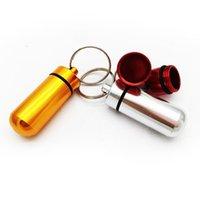 حامل مفتاح الألومنيوم مقاوم للماء حبة مربع زجاجة حامل الحاويات المفاتيح مفتاح سلسلة حبة مربع جرة تخزين 48 ملليمتر * 17 ملليمتر ستاس EEB6015