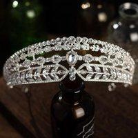 Hair Clips & Barrettes Trendy European Retro Atmosphere Crystal Queen Big Crown Bridal Wedding Tiara Women Beaut Pageant Jewelry Decorative