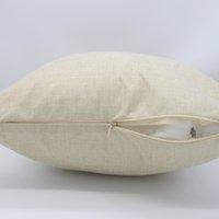 İnce Boş Süblimasyon Yastık Kılıfları Toptan Bej 100% Polyester Keten Yastık Kapakları Gibi Isı Termal Transfer Baskı için kullanılan LLE6727