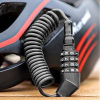 Bike Locks Helmet Lock Anti-theft Bicycle For Scooter Motorcycle 4 Digit Password Portable MTB Road Cable Mini Security
