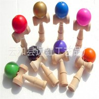 8 color Big size 18*6cm Kendama Ball Japanese Traditional Wood Game Toy Education Gift Children toys 2719 Y2