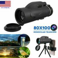 8OMs zooms monocular telescópio prisma de alta definição com clipe de telefone e tripé c0010 US STCOK entrega rápida
