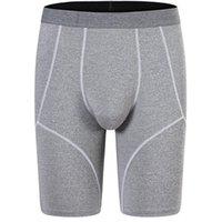 망 긴 복서 브랜드 남성 속옷 긴 다리 슬립 옴에가는 Boxershorts 섹시한 U 볼록 남성 팬티 남자 스포츠 5 포인트 팬티